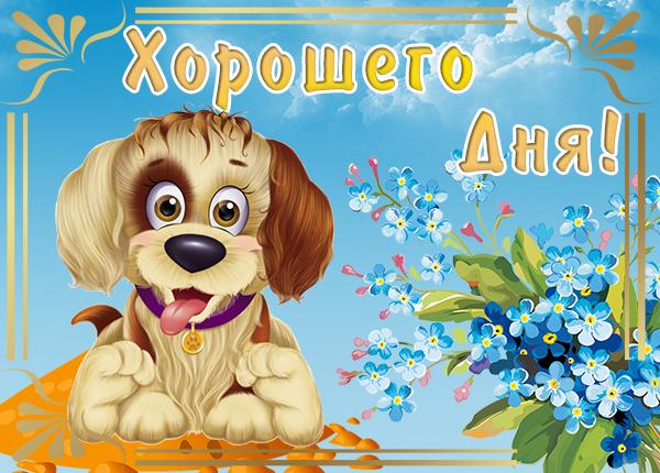 Картинка картинка хорошего дня с собачкой