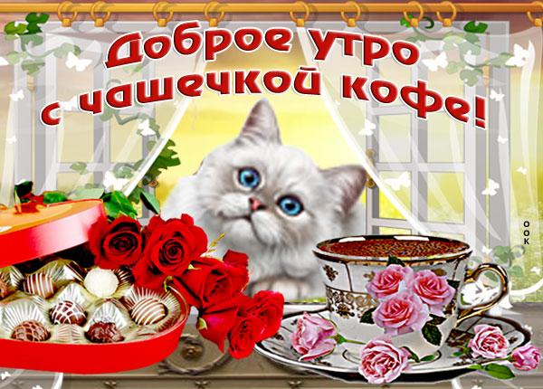 Картинка открытка доброе утро с кофе
