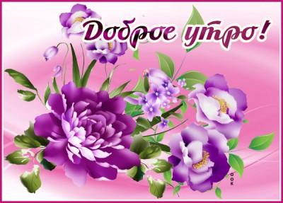 Картинка чудесная картинка доброе утро с цветами