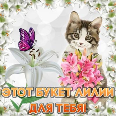 Картинка этот букет лилии для тебя