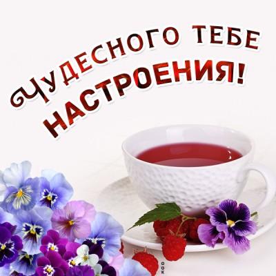 Открытка картинка чудесного настроения с чаем
