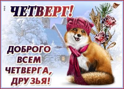 Открытка картинка доброго зимнего четверга