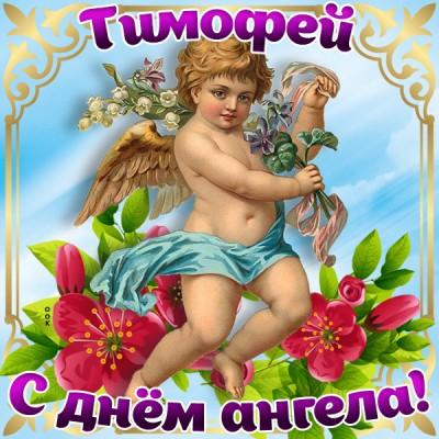 Открытка картинка поздравляю с именинами тимофей