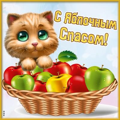 Открытка картинка поздравляю с яблочным спасом - здоровья и успехов
