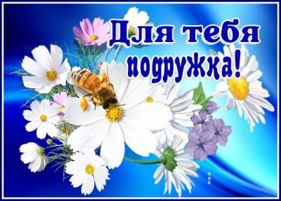 Открытка картинка с цветами для подруги