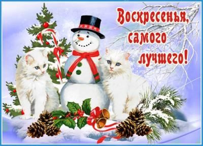 Картинка картинка с воскресеньем и зимой