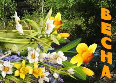 Открытка картинка сегодня в мир пришла весна