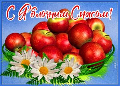Картинка картинка со светлым преображением и яблочным спасом