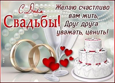 Картинка картинка желаю счасливо вам жить, с днём свадьбы