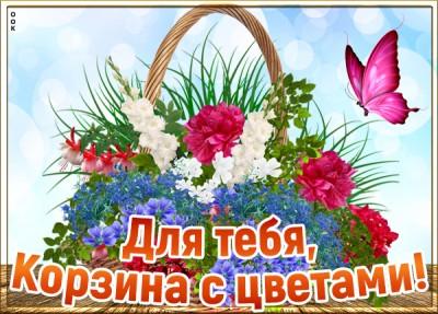 Открытка картинка женщине цветы