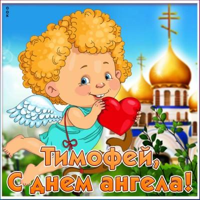 Открытка красивая картинка с днём ангела тимофею