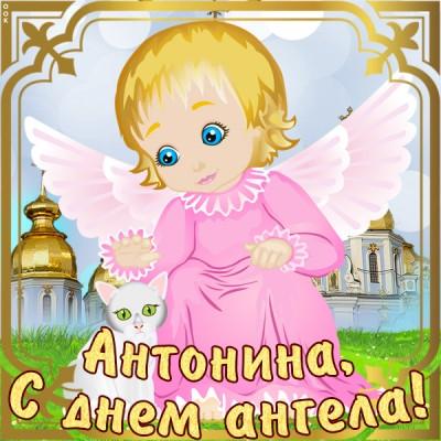 Открытка открытка с именинами антонине
