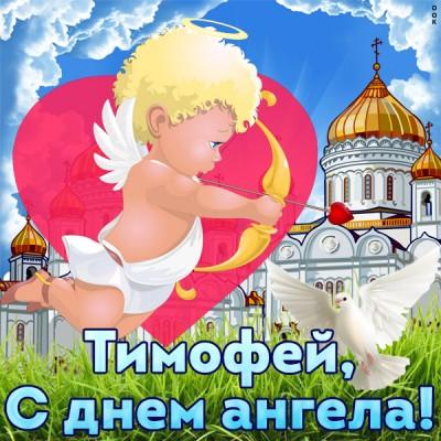 Картинка открытка с именинами тимофею